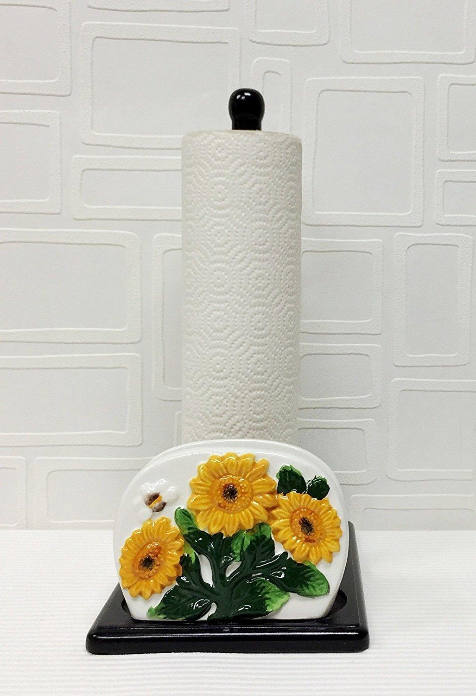 Amazon.com: Tuscany 3D Sunflower Paper Towel and Napkin Holder ...
