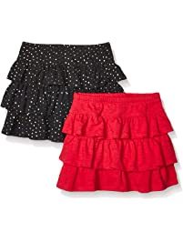 be72a9b99a Spotted Zebra Girls' 2-Pack Knit Ruffle Scooter Skirts