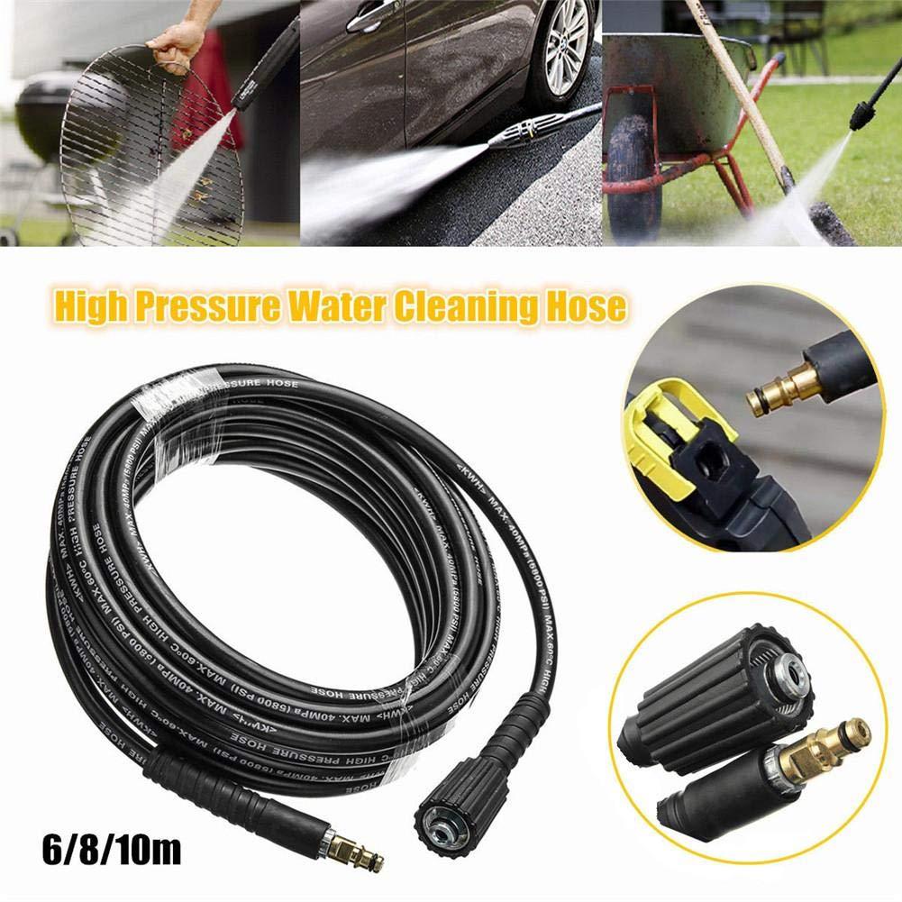 Kindlyperson 6M Tuyau dextension deau pour laveuse /à Haute Pression pour Nettoyeur Haute Pression Karcher K2 K3 K4 K5