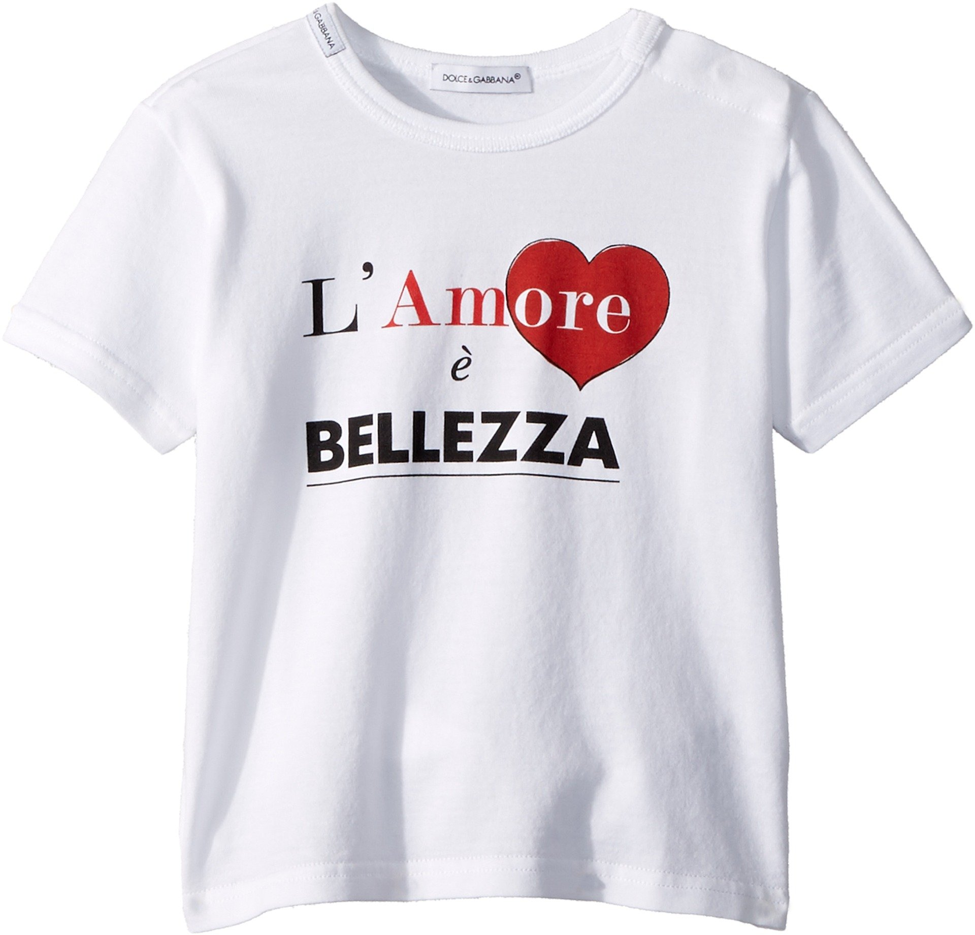 Dolce & Gabbana Kids Baby Boy's Love & Bellezza T-Shirt (Infant) White 3-6 Months