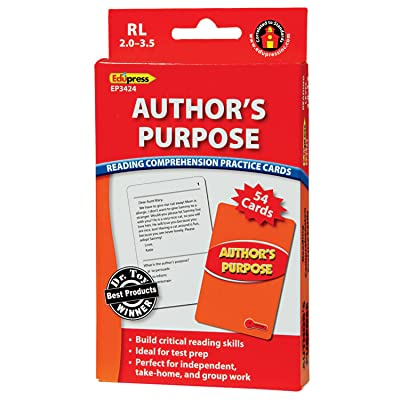 Edupress (EP-3424) Reading Comprehension Practice Cards, Author's Purpose, Red Level: Office Products