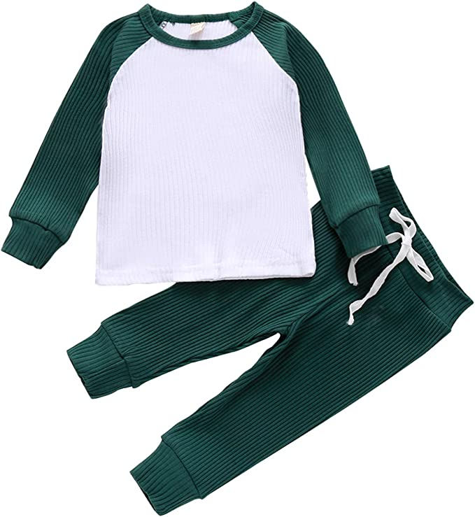 Toddler Baby Boys Girls Tie Dye Pajama Pants Two Piece Sleepwear Outfit Set Fall Winter Clothes