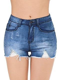 Vibrant Womens Juniors High Rise Distressed Denim Shorts