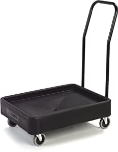 Carlisle Cateraide XT3000R Top-Loading Food Pan Carrier Dolly with Handle, Black