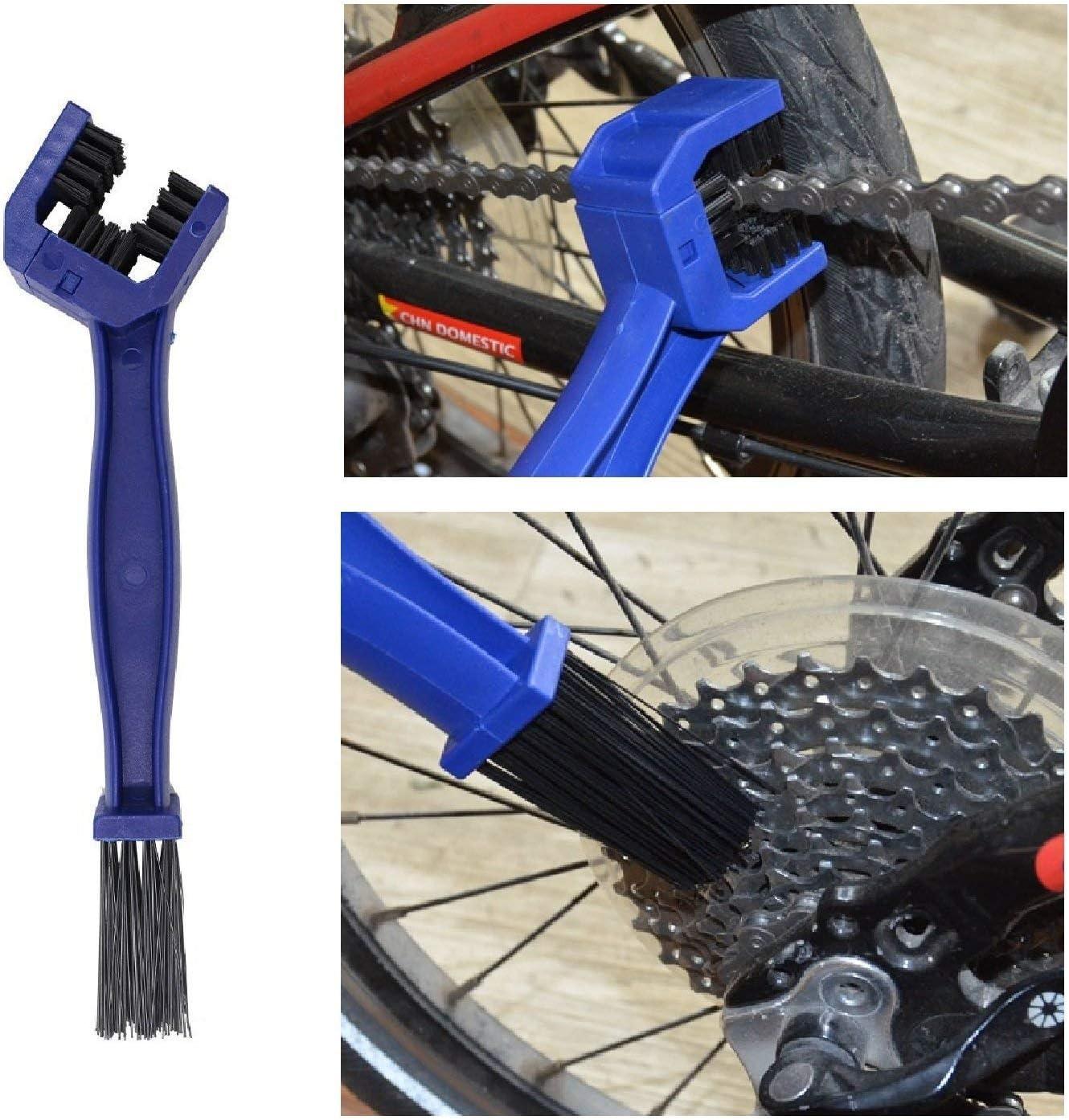 RONGYI - Juego de 6 cepillos de Limpieza, para Limpieza de Cadenas y Bicicletas (Apto para Todas Las Bicicletas): Amazon.es: Hogar