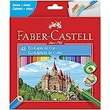 Lápis de Cor Sextavado, Faber-Castell, Ecolápis, 120148G, 48 Cores