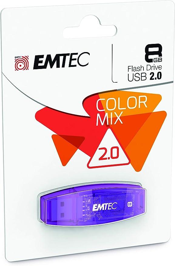 Blue EMTEC Nano Pop 8 GB Flash Drive