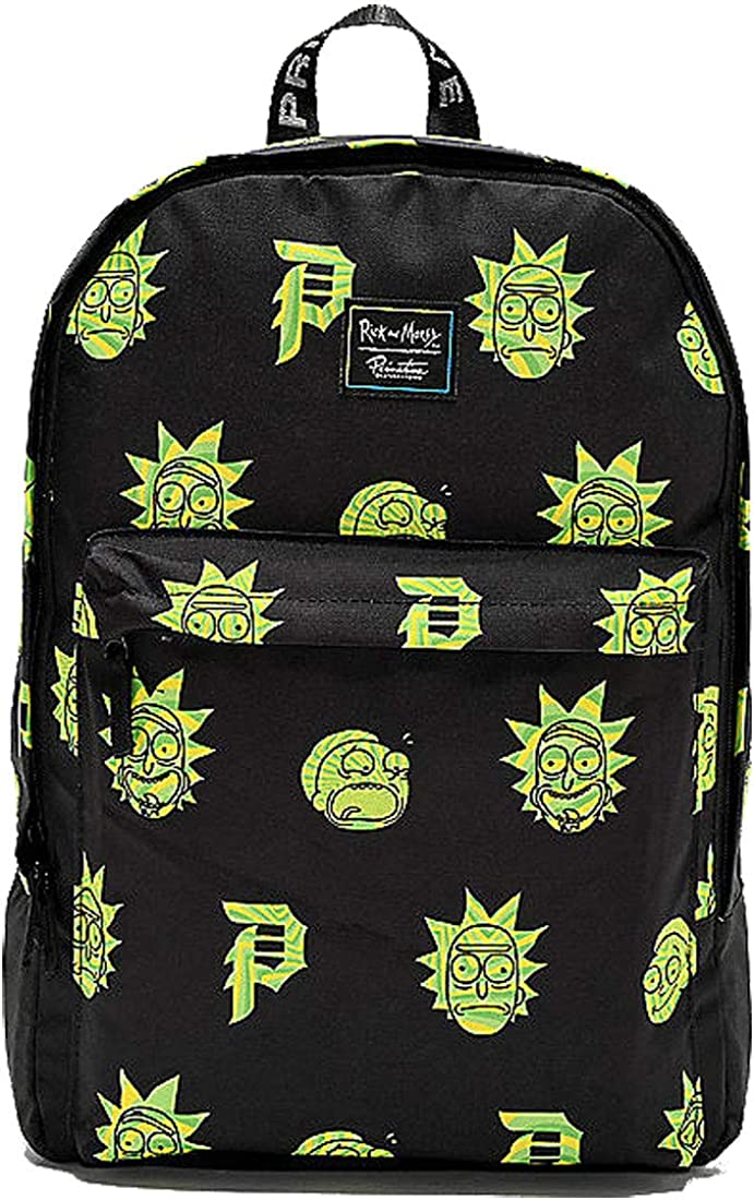 Primitive Skate x Rick Morty Men s RnM Backpack Bag Black