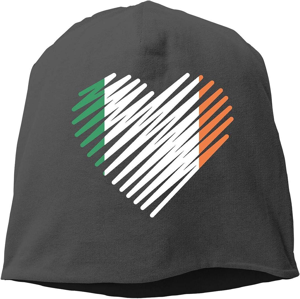 Love Ireland Heart Irish Unisex Knitted Hat Beanie Hat Warm Hats Skull Cap Beanie Hat