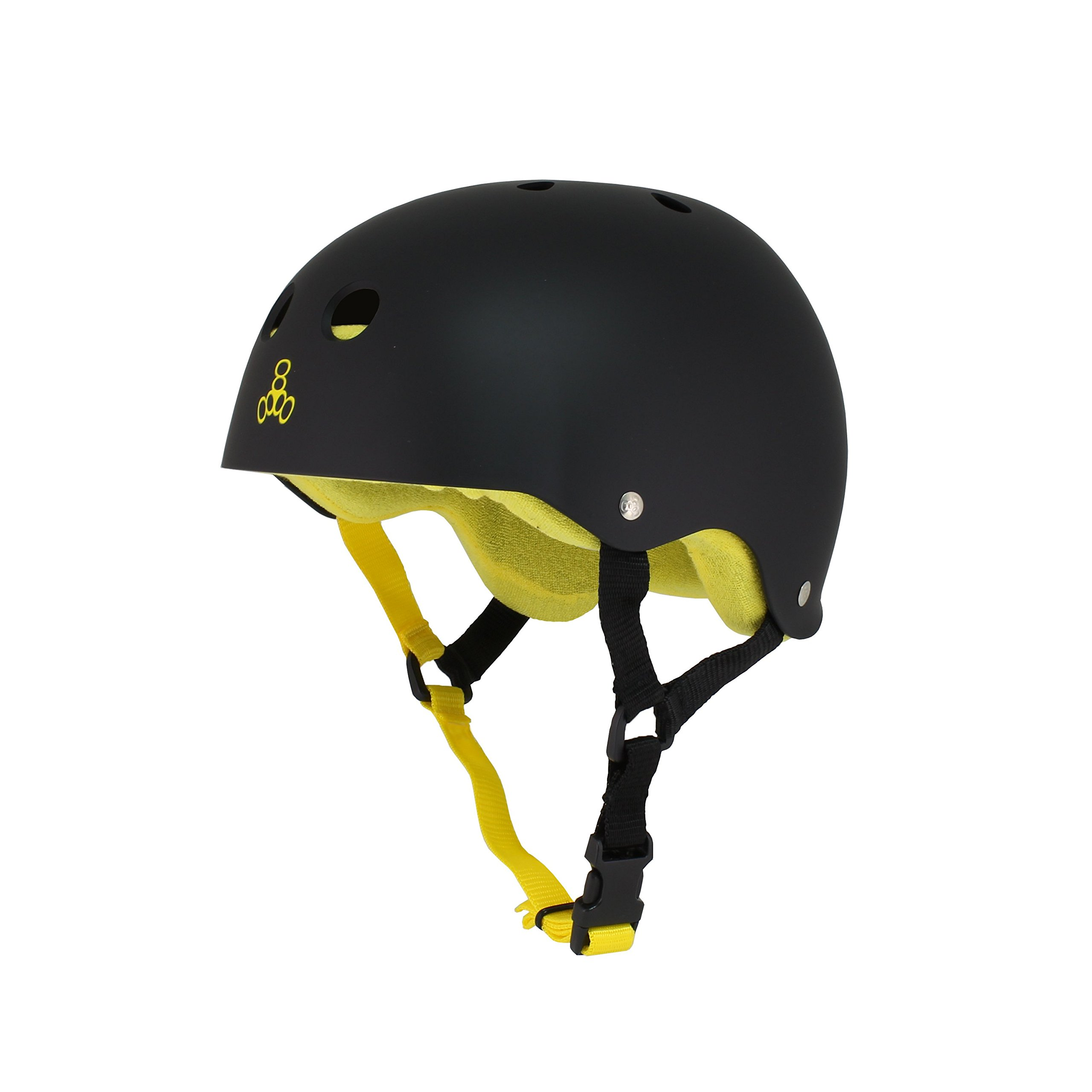 Triple Eight Sweatsave Helmet, Black/Yellow, Large