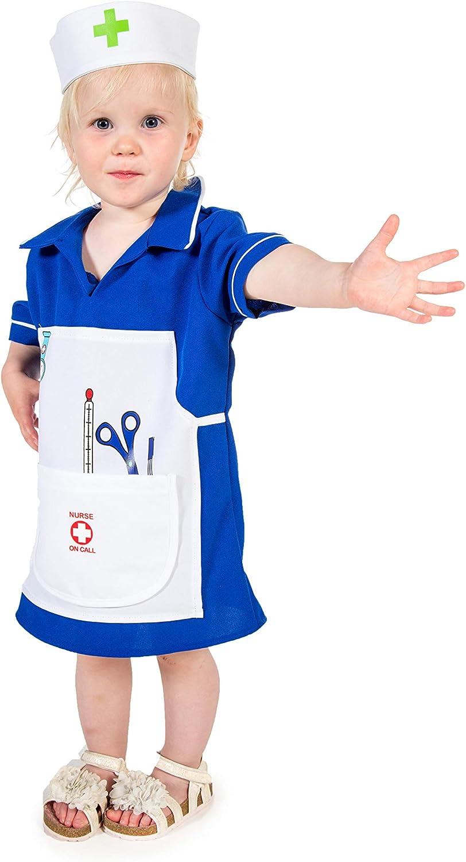 Disfraz de enfermera para niña pequeña: Amazon.es: Juguetes y juegos