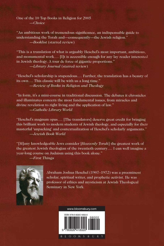HESCHEL HEAVENLY TORAH PDF