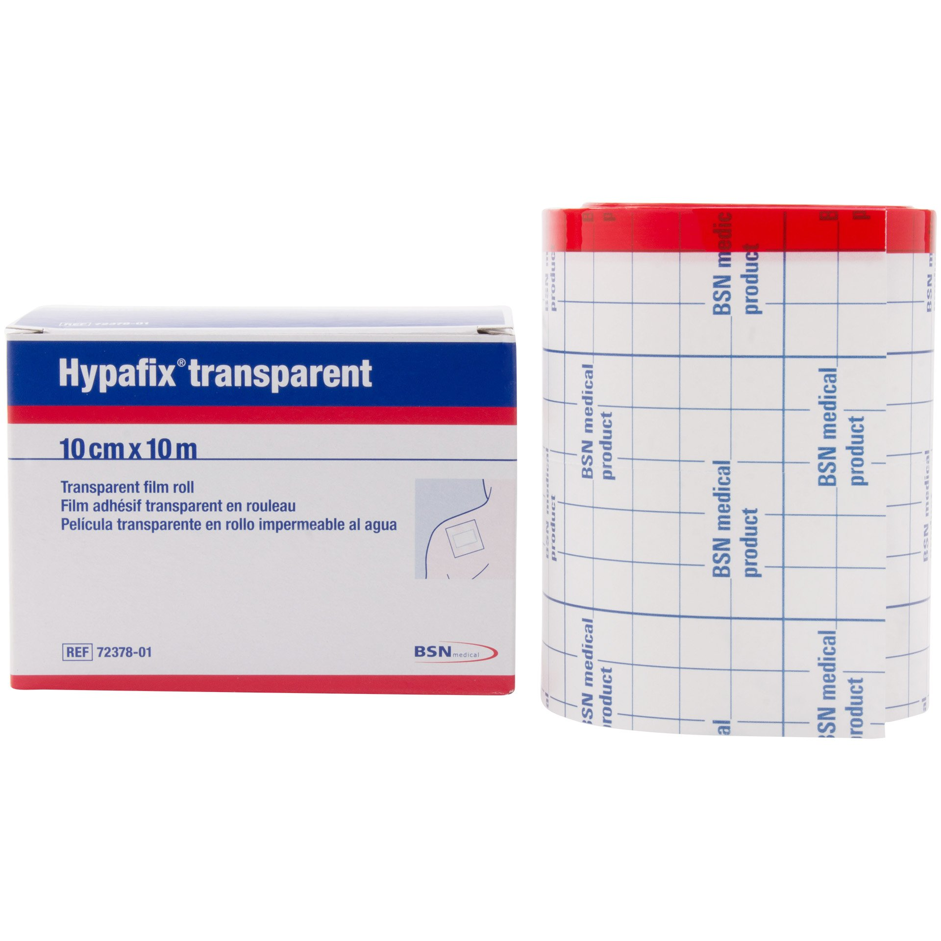 Hypafix® Transparent Film Dressing Roll - Waterproof (4'' X 11 yd roll) by Hypafix
