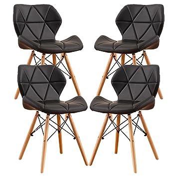 MIFI Sedie Imbottite Moderne, Sedie da Pranzo in Legno Stile Eiffel, Sedie  in Legno Gambe in Legno per Sedia da Ufficio Home Dressing Chair Dining ...