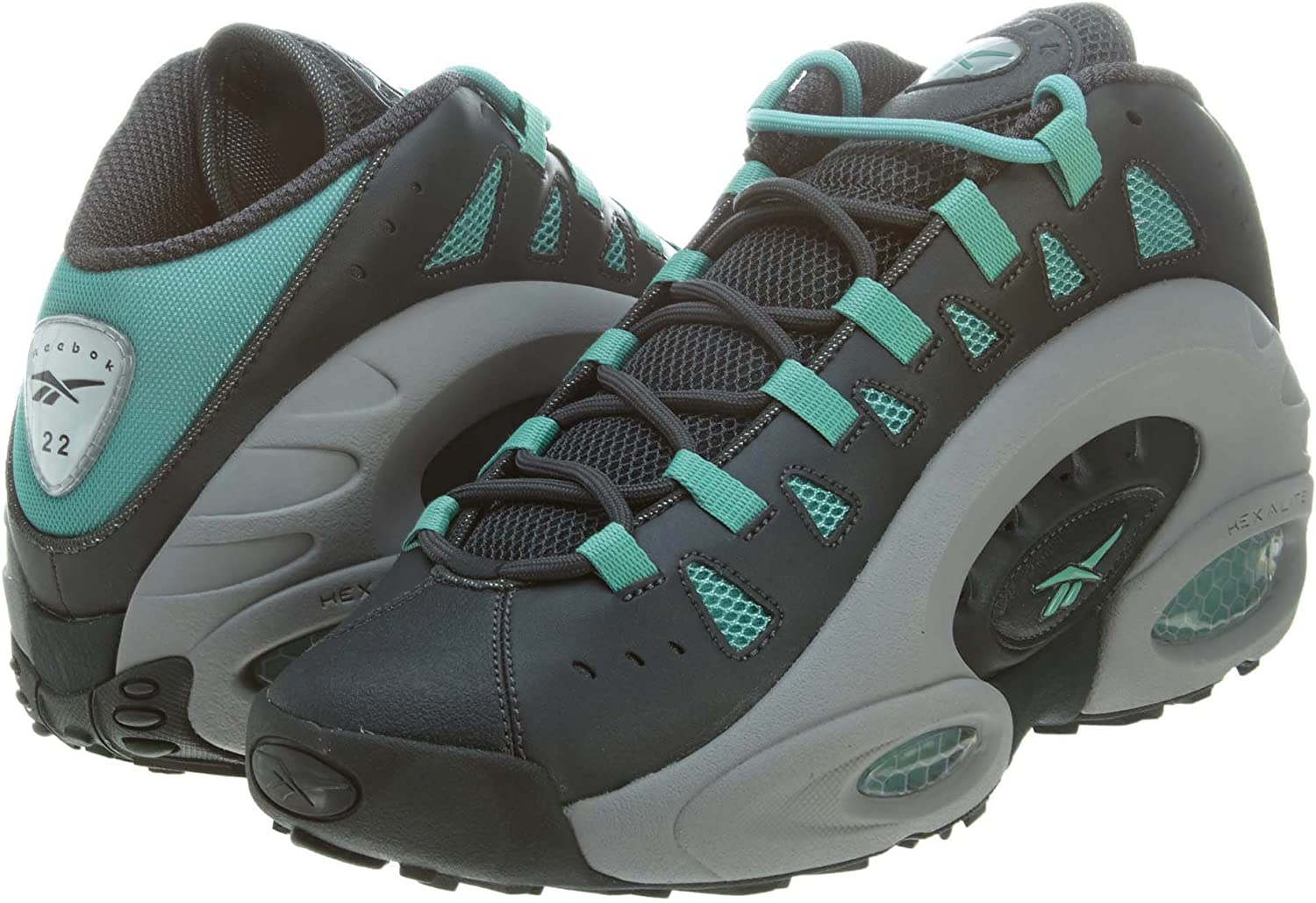 Deportista Hundimiento Turista  Reebok ES22 - Men's (sz. 10.5Width - D, Gravel/Tine Grey/Jadite):  Amazon.co.uk: Shoes & Bags
