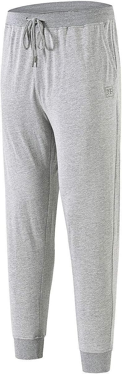 AIRIKE Men's Pajama Pants Cotton Man Sleeping Pants Elastic Waisted PJ Pajama Lounge Pants with Pockets,2 Pack