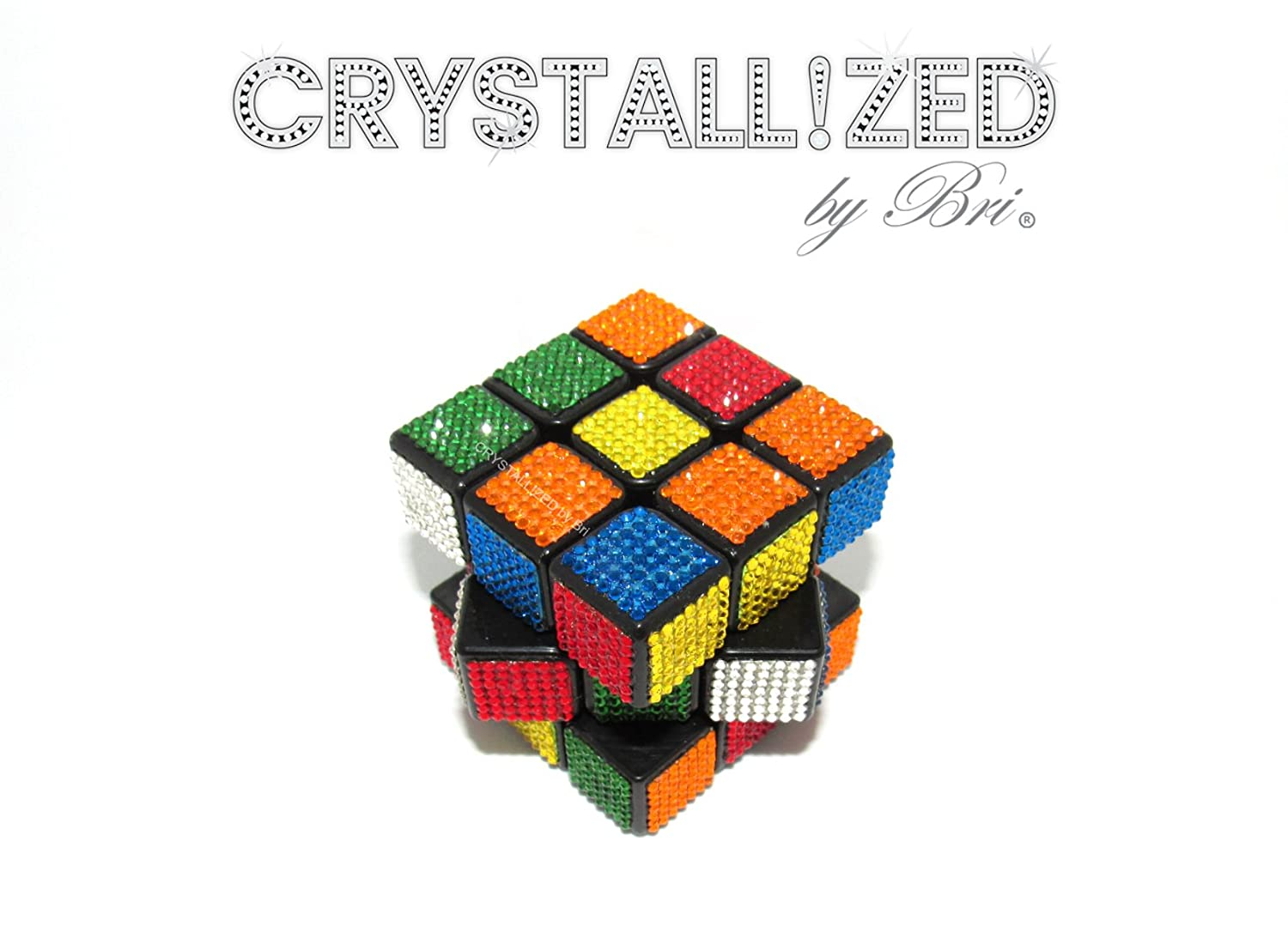 Swarovski CRYSTALLIZED 3x3x3 Speed Cube Game Size like Rubiks Playable Bling Crystals