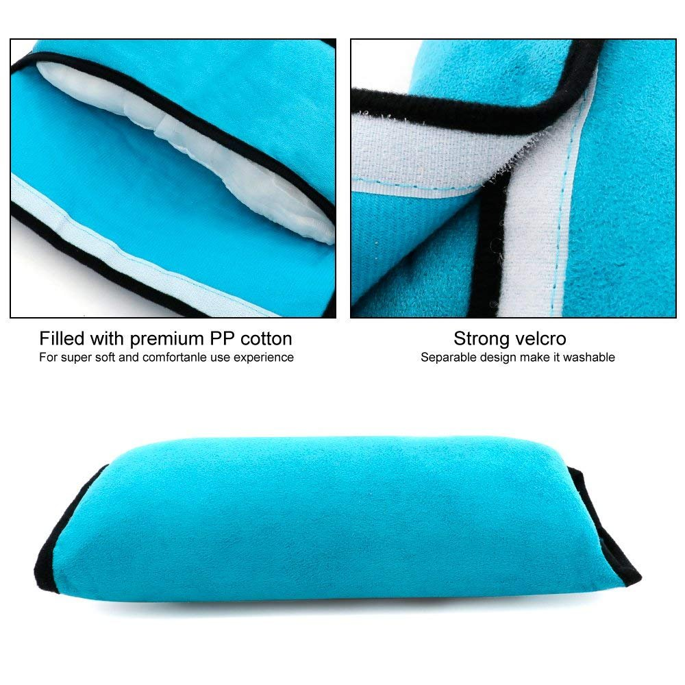 Plush Soft Auto Seatbelt Strap Cushion Pillow Kids Adjustable Vehicle Shoulder Cover Pads 3 Color Seat Belt Pillow BeatlGem Car Belt Pillow Toddlers Pack of 3 Children Headrest Neck Support