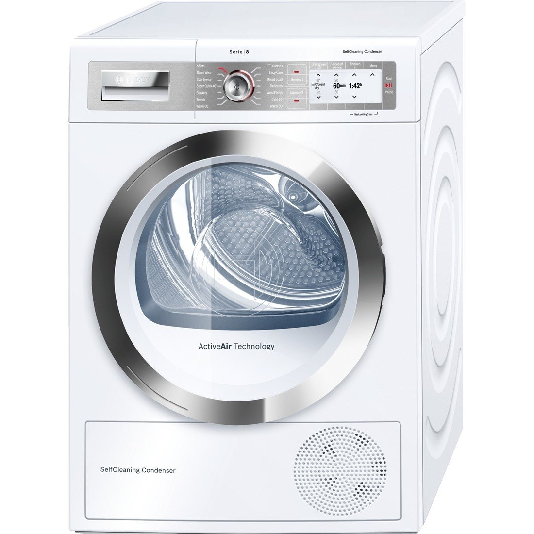 Bosch Serie 8 WTY86791GB Independiente Carga superior 9kg A++ ...