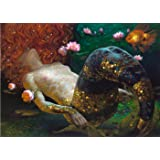Fashiontopdearls Fashion Cool Victor Nizovtsev mermaid painting WALL Decor Prints Realistic Oil Painting Printed On Canvas -2138 size (inch):24x33