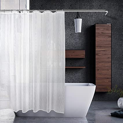 EMBATHER Heavy Duty Shower Curtain Liner With 12 Stainless Steel Hook And Antirust Grommets Waterproof