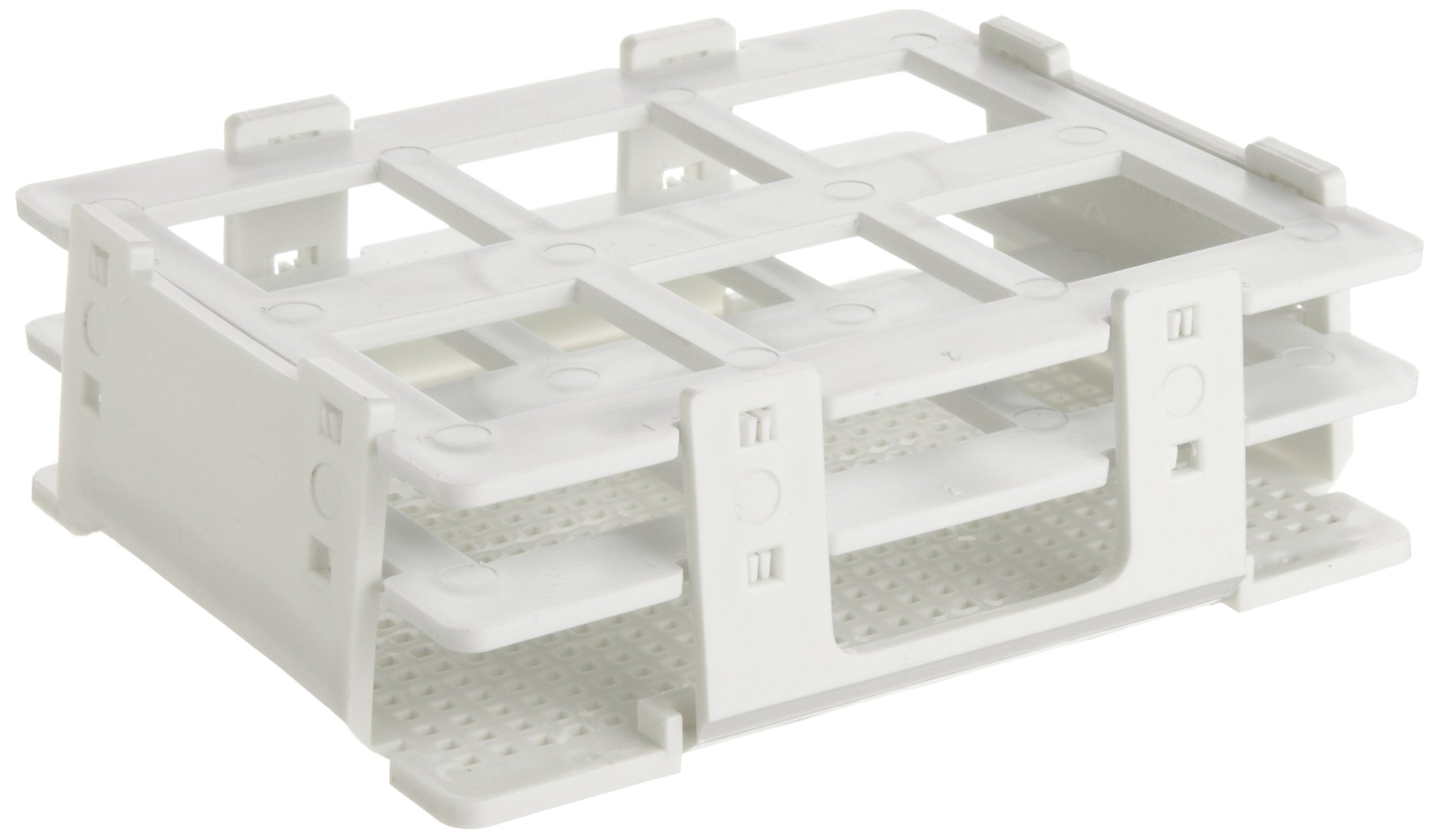 Bel-Art F18514-0030 No-Wire Bottle and Vial Rack; 25-30mm, 6 Places, 5.08 x 4.15 x 1.70 in., Polypropylene