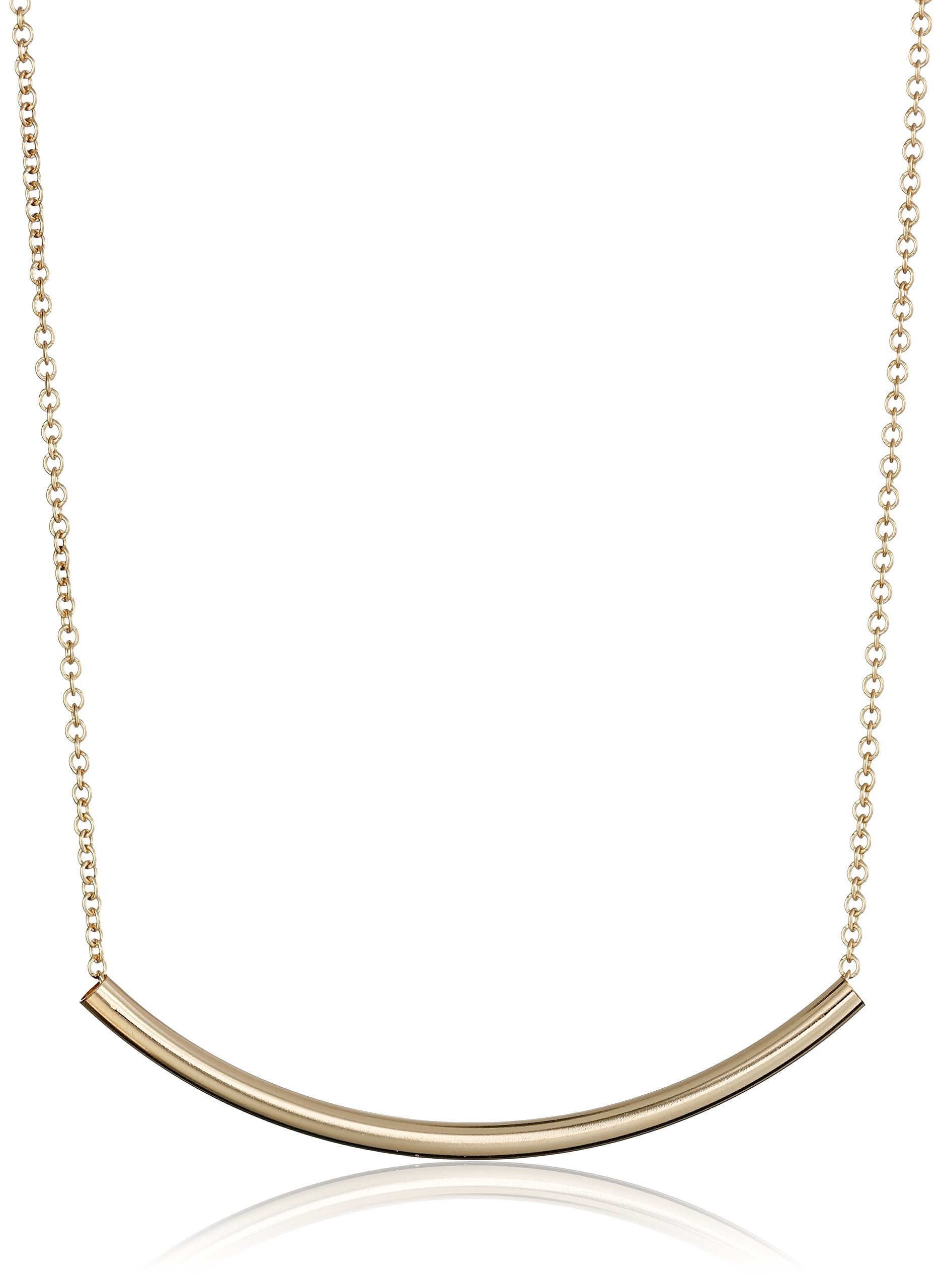 Dogeared Balance Tube Bar Gold Plated Silver Necklace, 16'' with 2'' extender by Dogeared (Image #3)