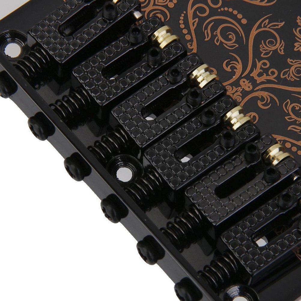 Tinksky 6 silletas para puente para Fender Tele telecaster Guitarra eléctrica Negro Cromo: Amazon.es: Instrumentos musicales