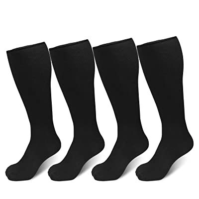 Cierto Winter Running Sports Soccer Socks For Men Women Long And Knee High 4 Pairs/Pack at Men's Clothing store