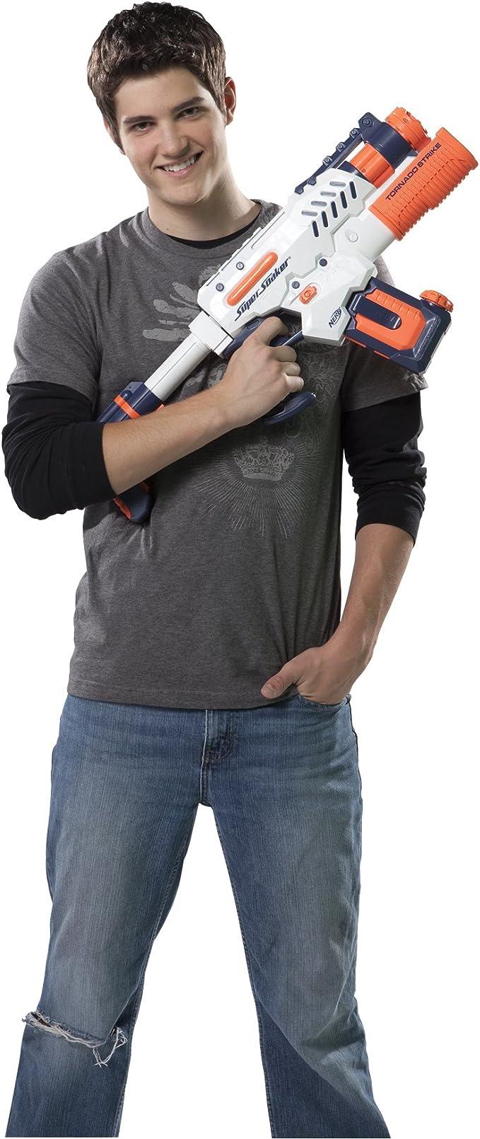 Amazon.com: Pistola de agua Nerf Super Soaker Tornado Strike ...