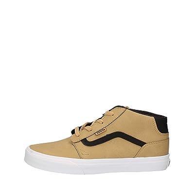 Chaussures Chapman Mid Leather Camel Jr h17 - Vans CkasNEL