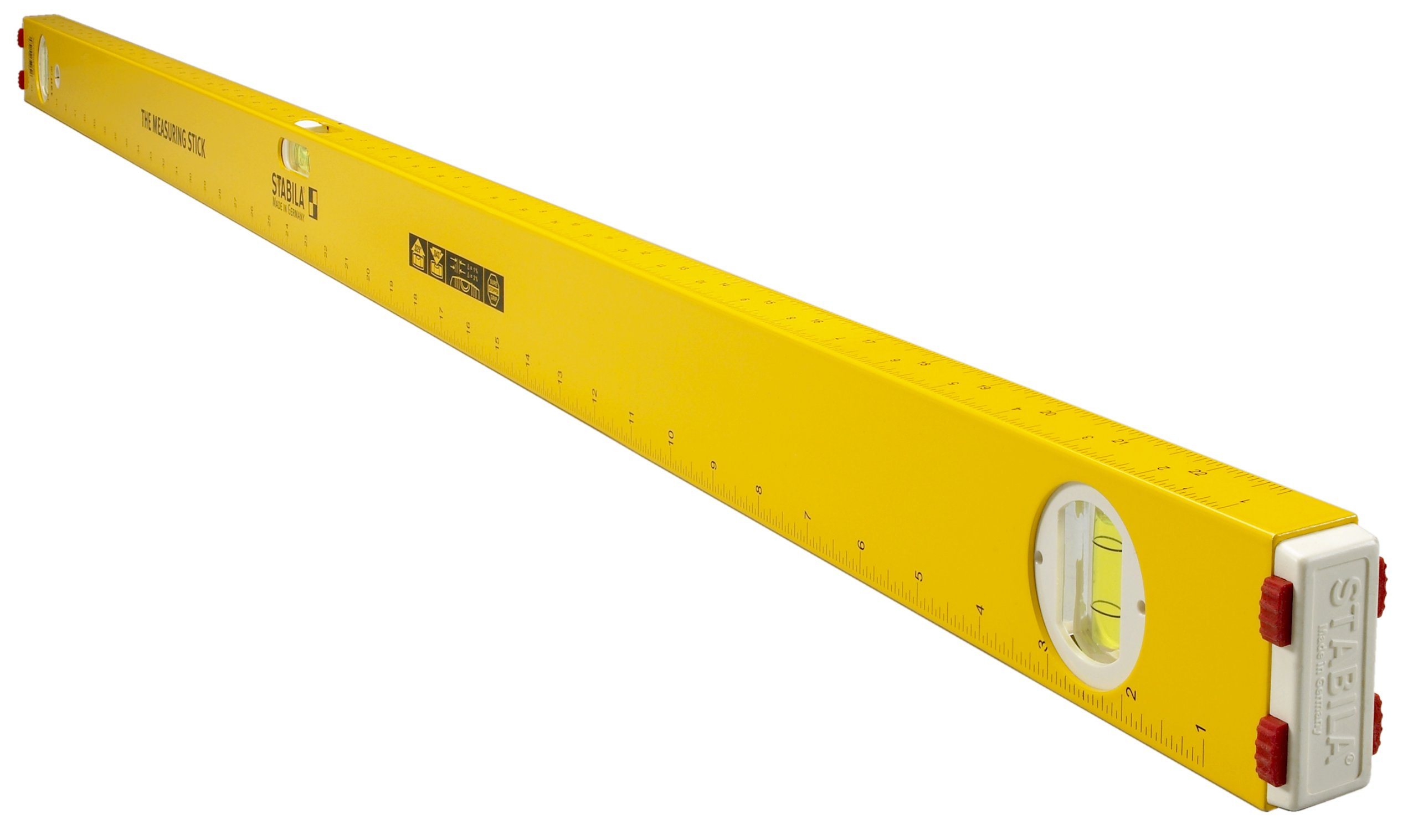 Stabila 29148 48-Inch Measuring Stick Level with 3 Layout Scales