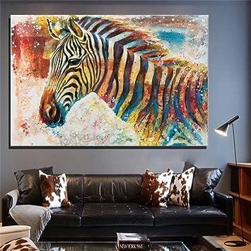 Moderne Kunst Malerei Handgemalte Ölgemälde Zebra Auf Leinwand Home Küche  Wandkunst Hintergrund Dekoration Wandbild Drucken Rahmenlos