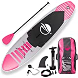 SereneLife Premium Inflatable Stand Up Paddle Board (6 Inches Thick) with SUP Accessories & Carry Bag   Wide Stance…
