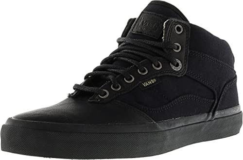 3fdafe0d778b87 Amazon.com  Vans Bedford + Fish Bones Black Ankle-High Skateboarding ...