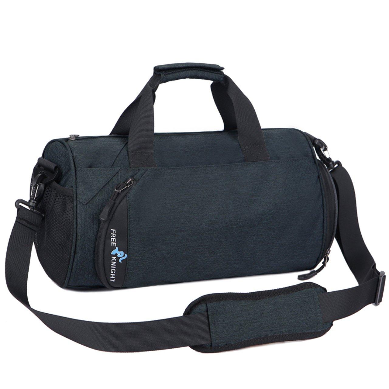 28c5856c9270da Galleon - Faleto Canvas Sport Duffel Bag Gym Tote Bag With Shoe Compartment  Fitness Yoga Equipment Bag Waterproof For Men & Women (Dark Grey)