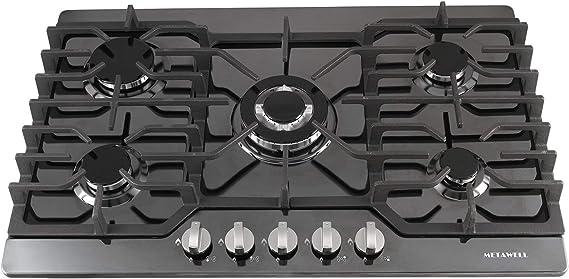 Amazon.com: Metawell - Cocina de gas natural con 5 ...