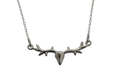 Lily Charmed - Sterling Silver Stag Necklace uYEJV8s