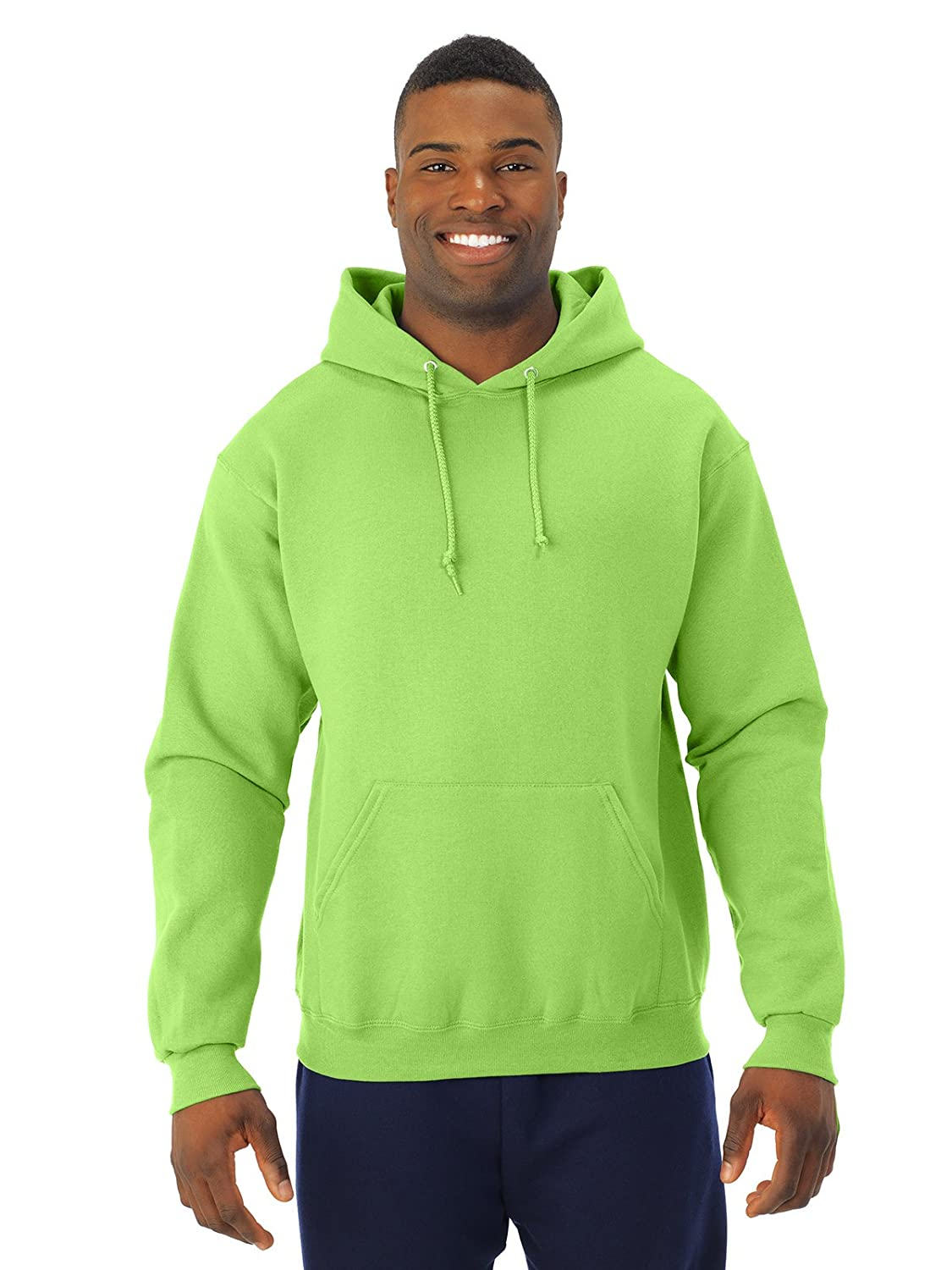 NuBlend 50//50 Pullover Hood Small Jerzees 8 oz Neon Green