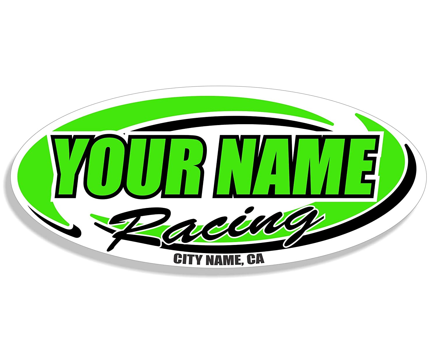 Custom Your Team Name Racing Trailer Decals Multiple Color /& Size Options Your Name Trailer Stickers