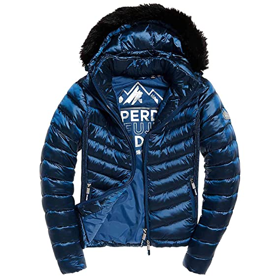Superdry Hooded Luxe, Chaqueta para Mujer