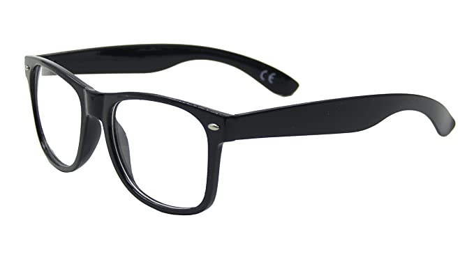 8c6bfdcac59 Clear Lens Geek Retro Unisex Glasses