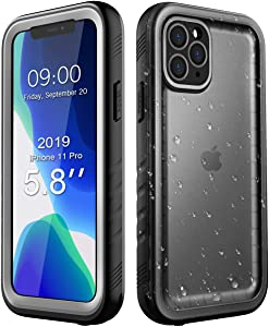 Case for iPhone 11 Pro Max Waterproof, Underwater Shockproof Full-Body Rugged Bumper Sealed Case with Built-in Screen Protector for iPhone 11 Pro Max 6.5 inch 2019