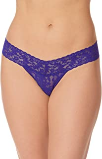 product image for hanky panky, Signature Lace Low Rise Thong, Night Sky Blue, One Size (2-12)