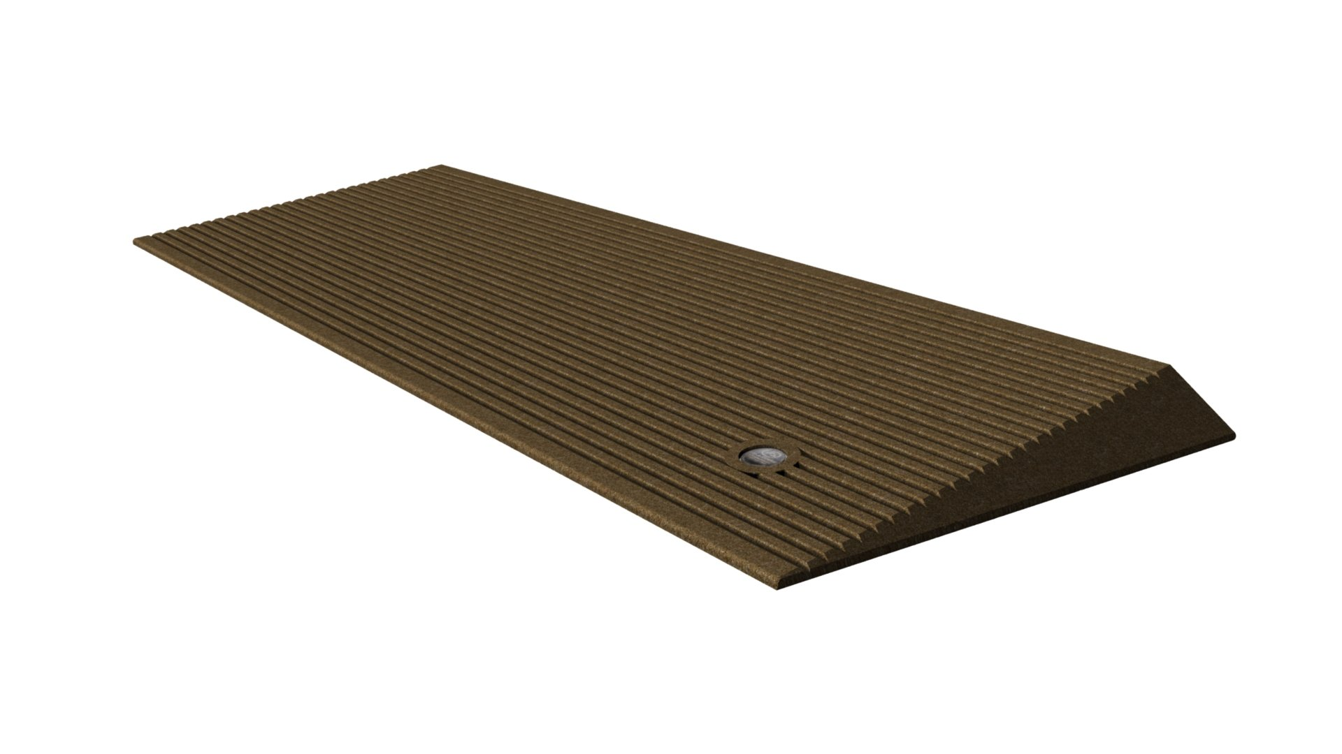 EZ-ACCESS Transitions Angled Entry Mat, Hazelnut Brown, 15 Pound