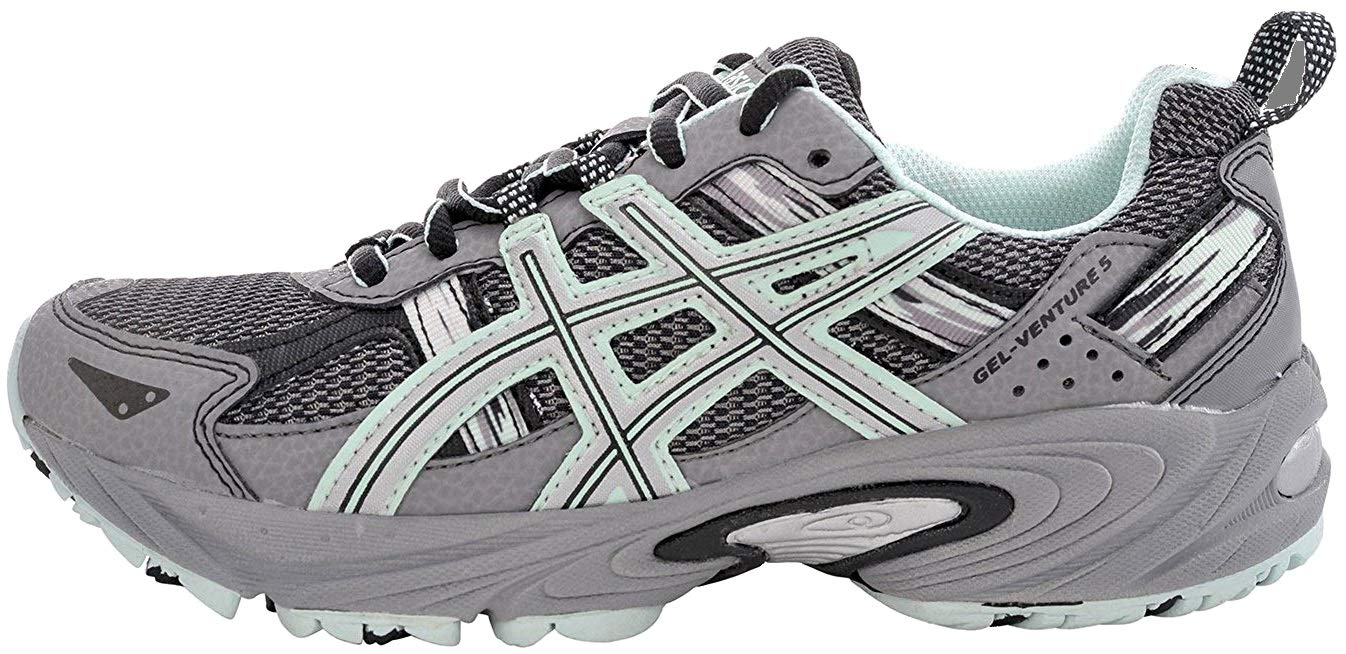 ASICS Women's Gel-Venture 5 Trail Running Shoe, Frost Gray/Silver/Soothing Sea, 6 M US by ASICS (Image #5)