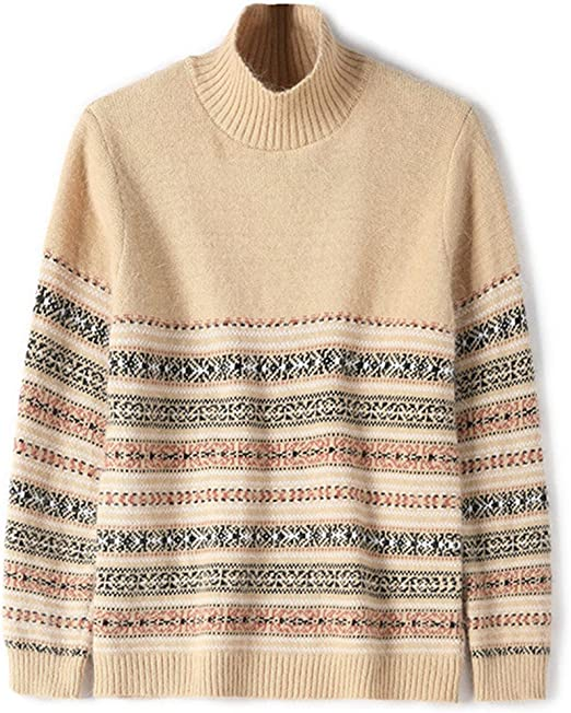 WoowTry Women's Fashion Choker Pullover Sweaters Ethnic Wind