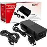 YCCSKY Xbox One Power Supply Brick, [Advanced Version] AC Adapter Power Supply Charger Cord Replacement for Xbox One 100-240V, Black