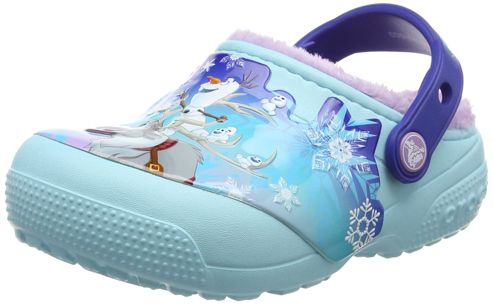 Crocs Girls' Crocsfunlab Lined Frozen Clog, Ice Blue, 6 M US Toddler