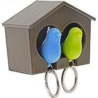 Saim Lover Sparrow House Key Ring Bird Nest Shape, Keychain Split Ring Home Wall Hook Holder Key Ring
